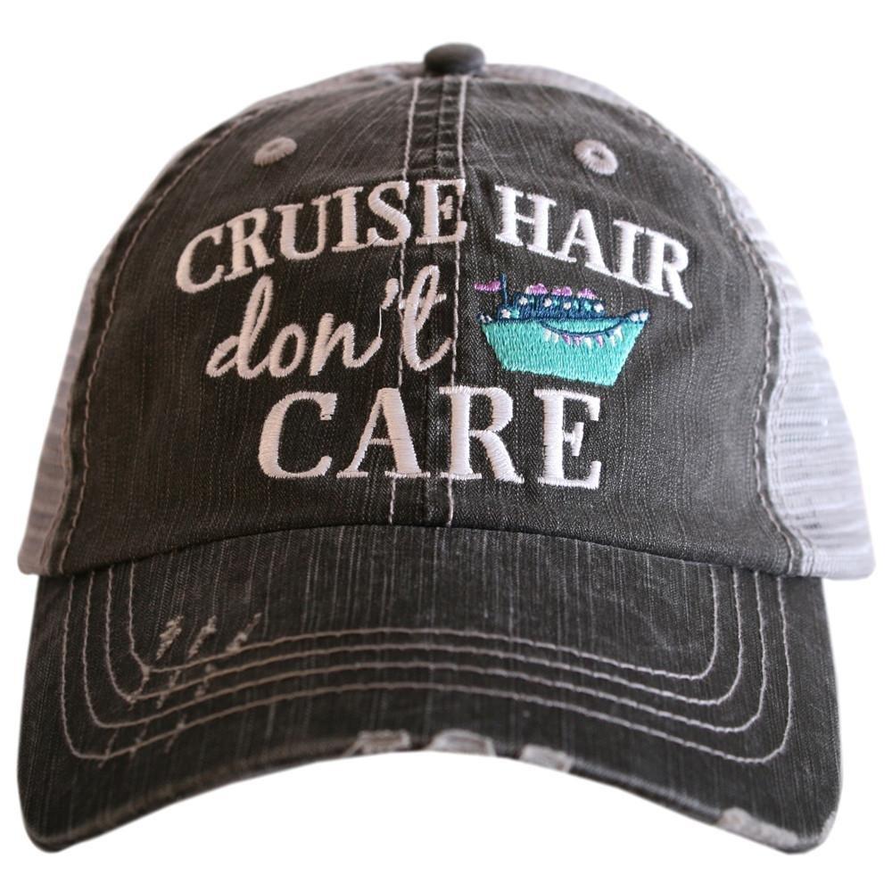 Katydid Cruise Hair Don't Care Baseball Hats Caps