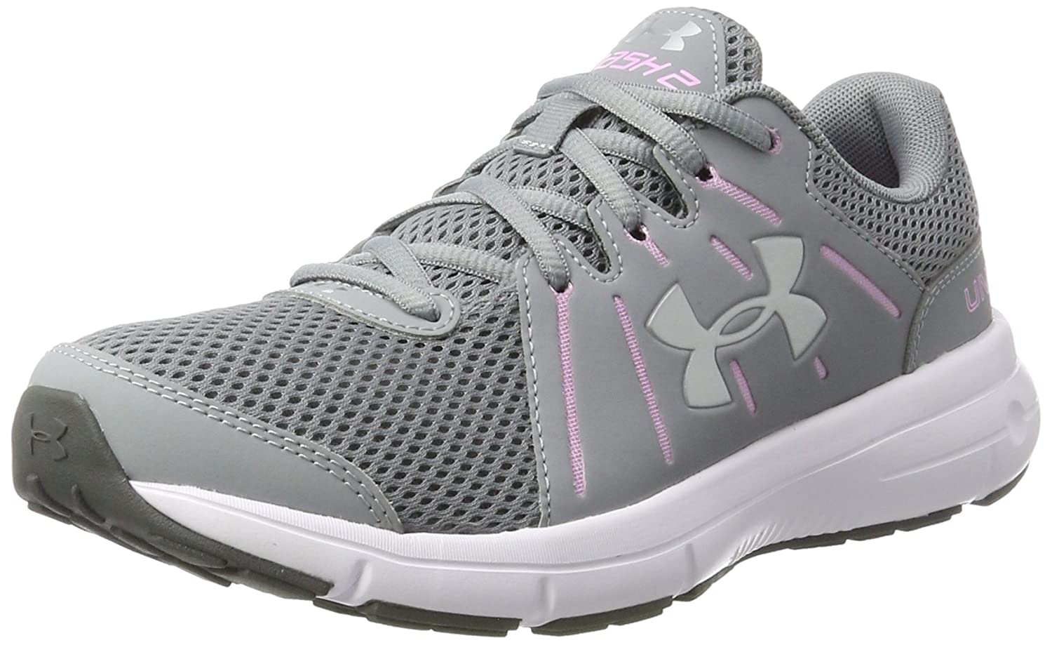 Under Armour Women's Dash 2 Running Shoe B01N4DAM21 11 B(M) US|Steel/Icelandic Rose/Msv