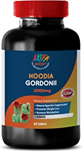 Weight Loss Supplements Appetite suppressant - HOODIA GORDONII 2000 MG - Dietary Supplement - hoodia Diet Pills - 1 Bottle 60 Tablets
