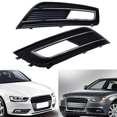 Possbay – Cubierta de malla Rejillas de parachoques del coche Luces antiniebla para Audi A4 B8