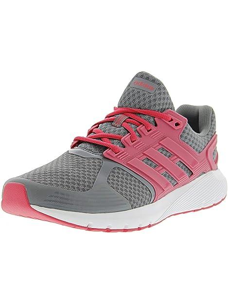 big sale 742a4 c8da2 Adidas Women s Duramo 8 Grey Heather Real Pink Ankle-High Running Shoe - 6.5