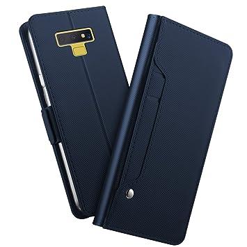 Carcasa Samsung Note 9, Galaxy Note 9 Funda de piel, Silm PU ...