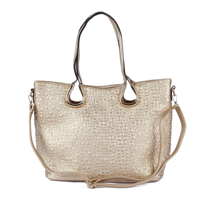 Damara Women PU Twins Grab Handles Unevenness Versatile Handbags