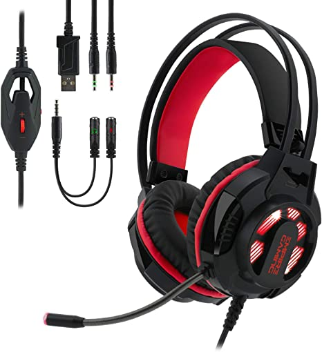 EMPIRE GAMING - Auriculares gamer con micrófono flexible H400 ...