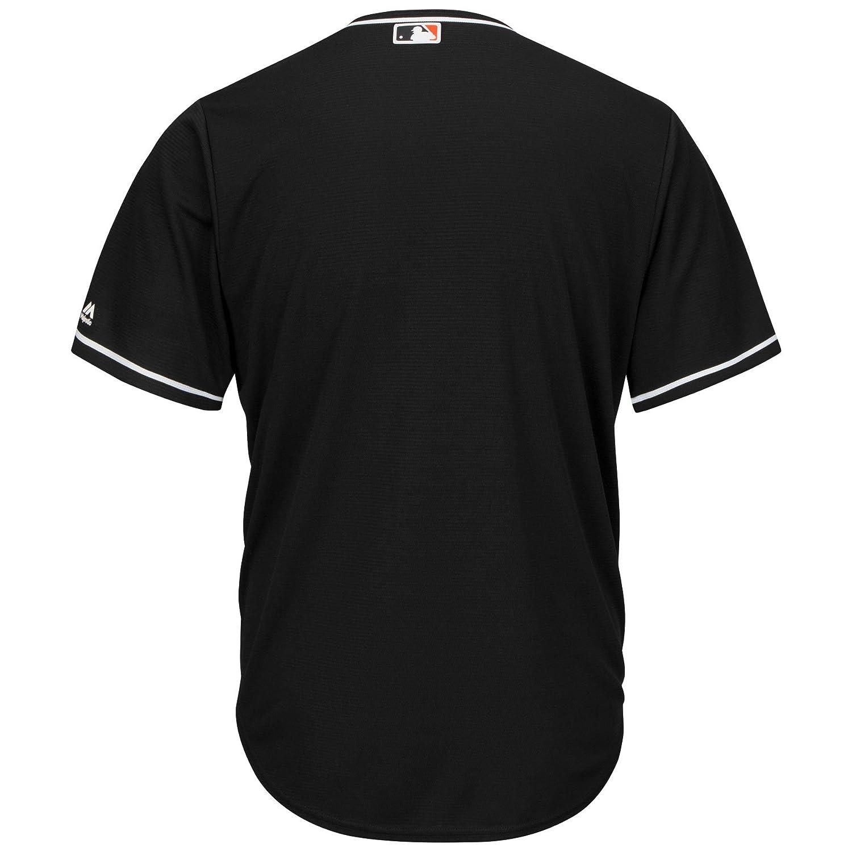 be4abfd1 Majestic Miami Marlins Cool Base MLB Jersey Alternate Black: Amazon.co.uk:  Sports & Outdoors