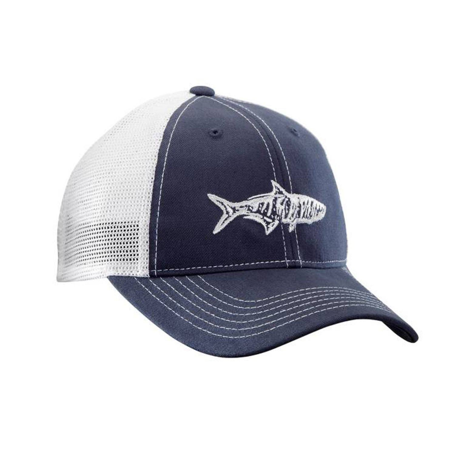 Flying Fisherman Tarpon Trucker Hat, Navy/White H1735