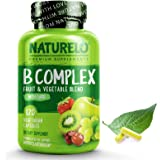 NATURELO B Complex - Whole Food - with Vitamin B6, Folate, B12, Biotin - Vegan - Vegetarian - Best Natural Supplement for Ene