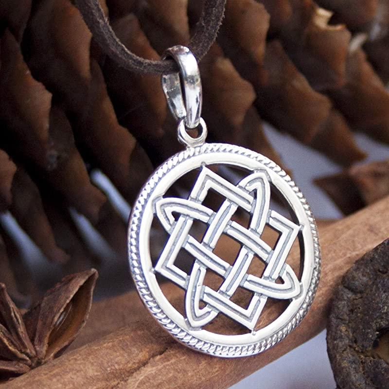 Sign Men Necklaces Slavic Culture Pagans Sign Antique Silver Amulet Handcrafted Pendants Jewelry