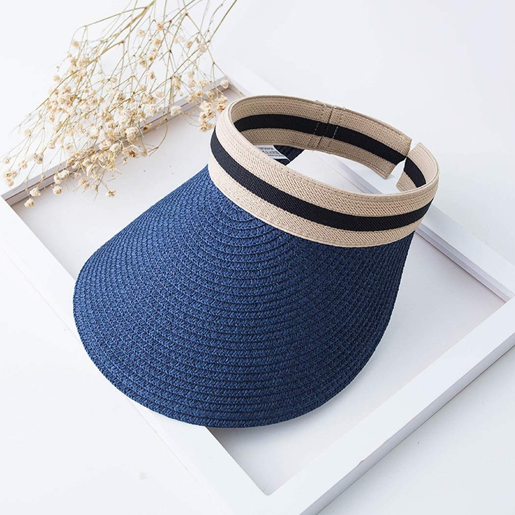 Color : A01 Tuziii Hat Woman Summer Sun Protection UV Protection Light Material Braid Straw Hat Folding Hat