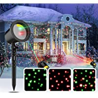Coowoo Christmas Lights Projector Light Show Outdoor Decorations, Indoor Party Light, Waterproof Landscape Lighting for Halloween, Christmas, New Year,