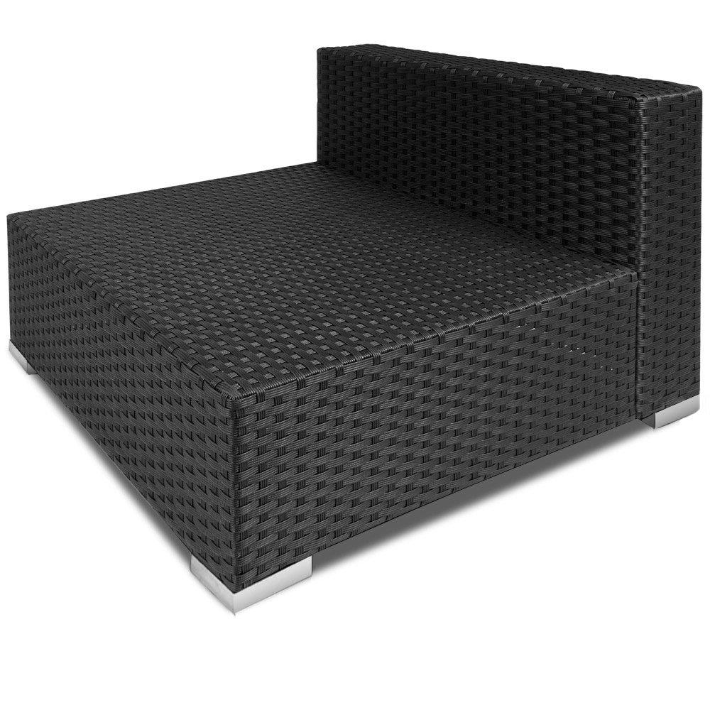 Hervorragend Rattan Garden Furniture Set Sofa Lounge Black Polyrattan Strong  OB94