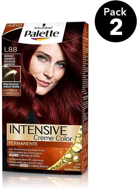 Palette Intense - Tono L88 Burdeos Luminoso - 2 uds - Coloración Permanente - Schwarzkopf