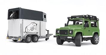 Land Rover - Defender SW, vehículo para transporte equino (Bruder 2592)
