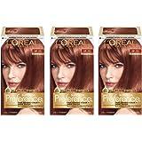 L'Oréal Paris Superior Preference Permanent Hair Color, 6R Light Auburn, 3 Count