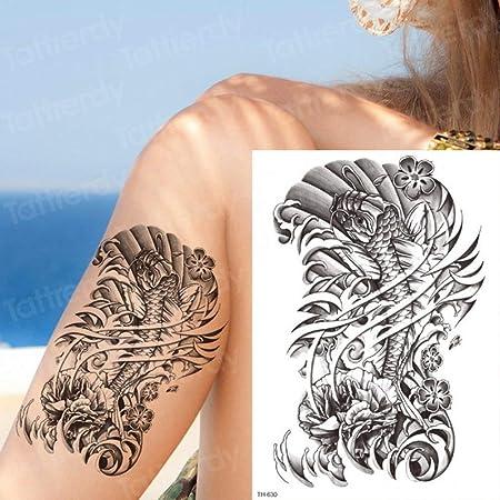 Los Hombres Tatuaje de 3pcsTiger se notó Brazo Mangas del Tatuaje ...