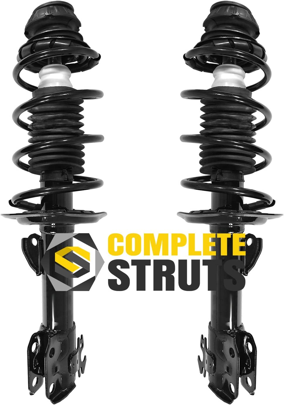 Note: FWD 2007 For Pontiac Vibe Front Complete Struts Assembly x 2