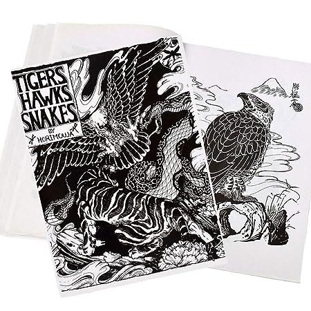 IHIGGG - Cuadernos de Tatuaje Profesional con diseño de Serpiente ...