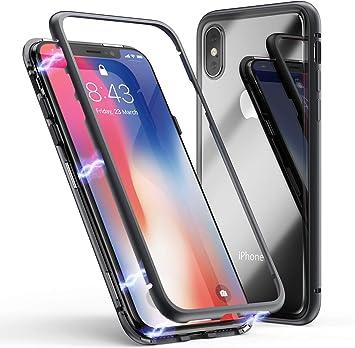 Wephone Accesorios Funda de Metal y Cristal Imantada para Apple ...