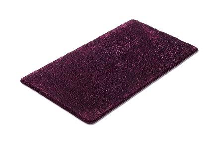 Vonella tappetino da bagno di colore mora con filato effetto