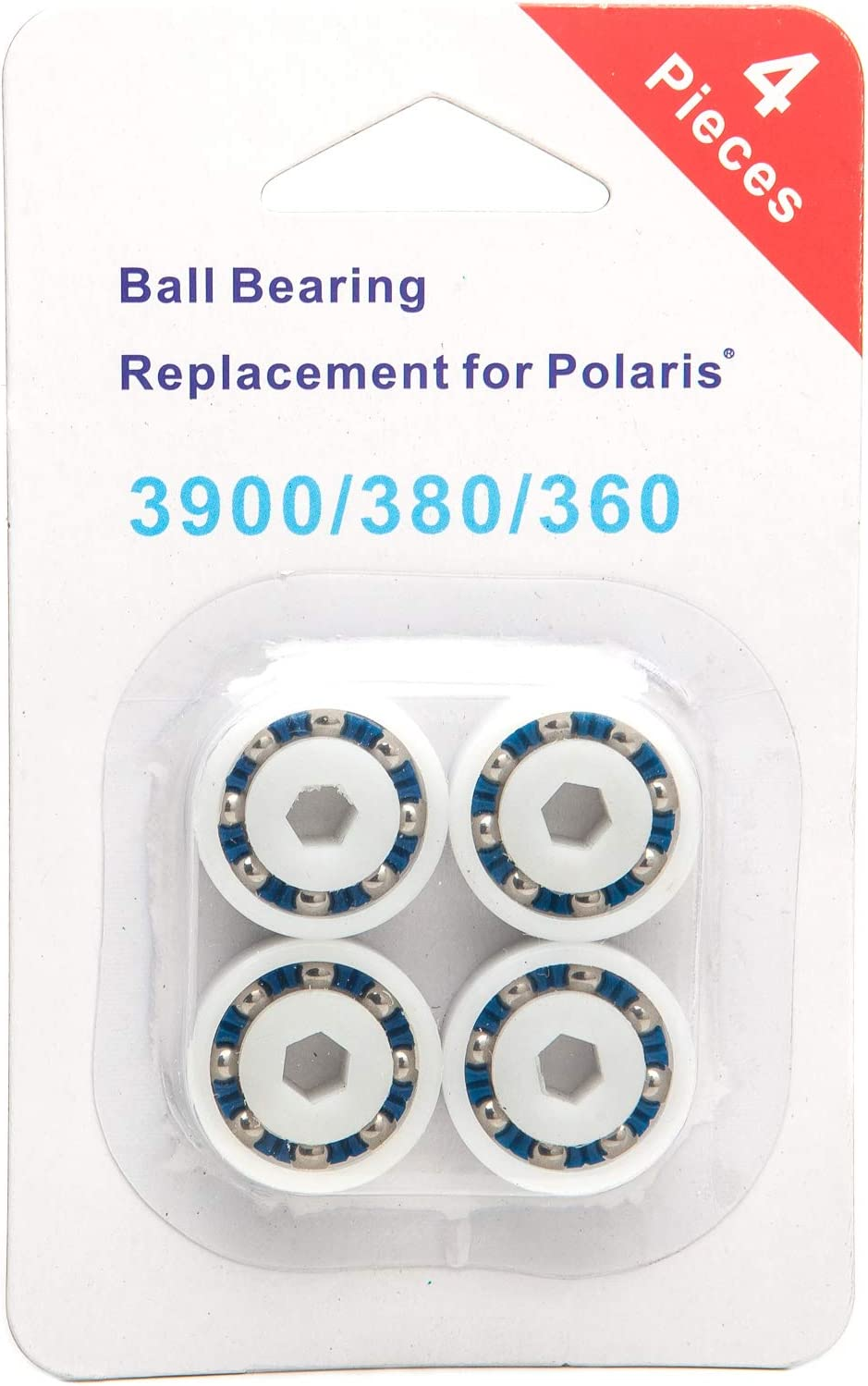 PoolSupplyTown 4 Pack Wheel Ball Bearing Replacement for Polaris 360, 380, 3900 Sport, ATV Pool Cleaners Part No. 9-100-1108