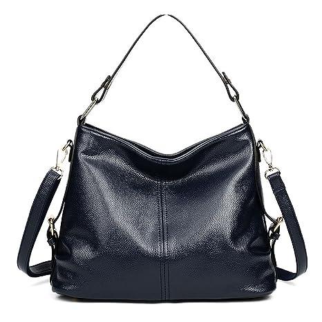 DEERWORD Para mujer Carteras de mano Bolsos bandolera Bolsos bolera Bolsos maletín Cuero Azul Oscuro