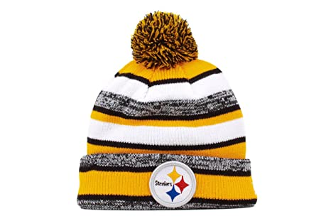 60fe25d5e Image Unavailable. Image not available for. Color  New Era NFL 2014 On  Field Knit Pittsburgh Steelers Beanies ...