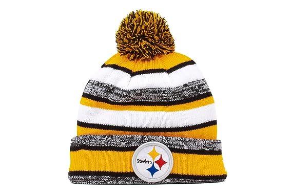 540deca01 Amazon.com  New Era On field Sport Knit Pittsburgh Steelers Game Hat ...