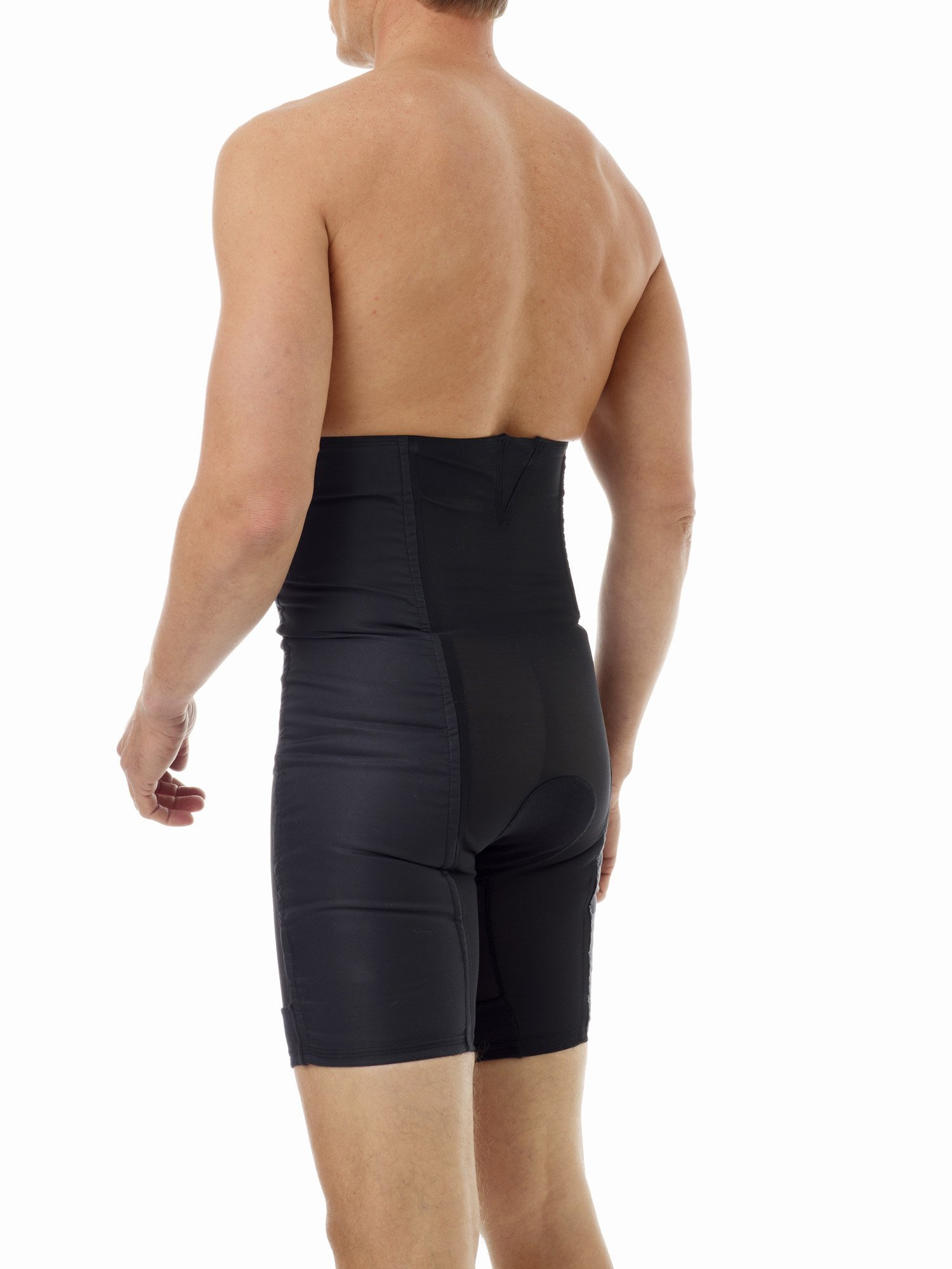 Underworks Men's Power Shaper Long Leg Brief Girdle, Waistline - Medium 33-36, Black