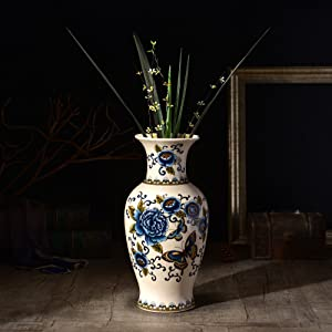 American Ceramic Floor Large Vase For Centerpieces Living Room Christmas Birthday Wedding Party Gift Desktop Home Decor