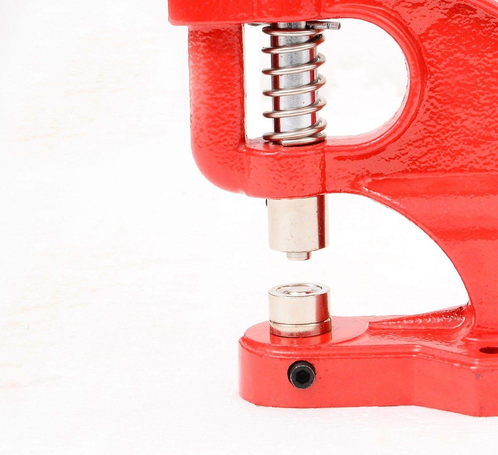 Tenive Heavy Duty Eyelet Maker Grommet Machine Hand Press Hole Punch Tool with 3 Dies (#0 #2 #4) and 900 Grommets-Red