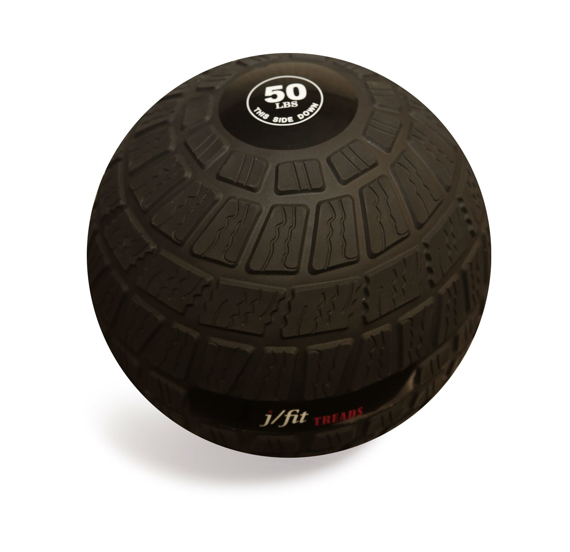 j/fit TREADS Dead Weight Slam Ball with Easy-Grip Textured Surface, 50 lb