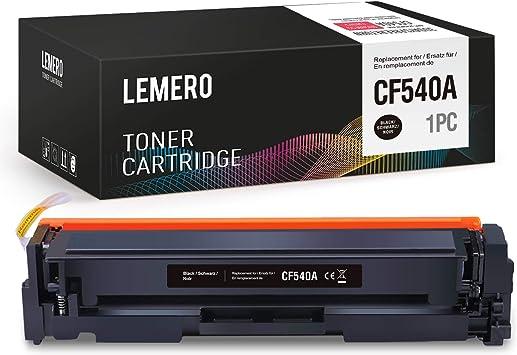Lemero Toner Kompatibel Zu Hp Cf540a 203a Für Hp Color Laserjet Pro M254 M254dw M254nw Mfp M281 M281cdw M281fdn M281fdw M280 M280nw Drucker Schwarz Bürobedarf Schreibwaren