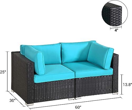 Outdoor Loveseat Patio Furniture Corner Sofa