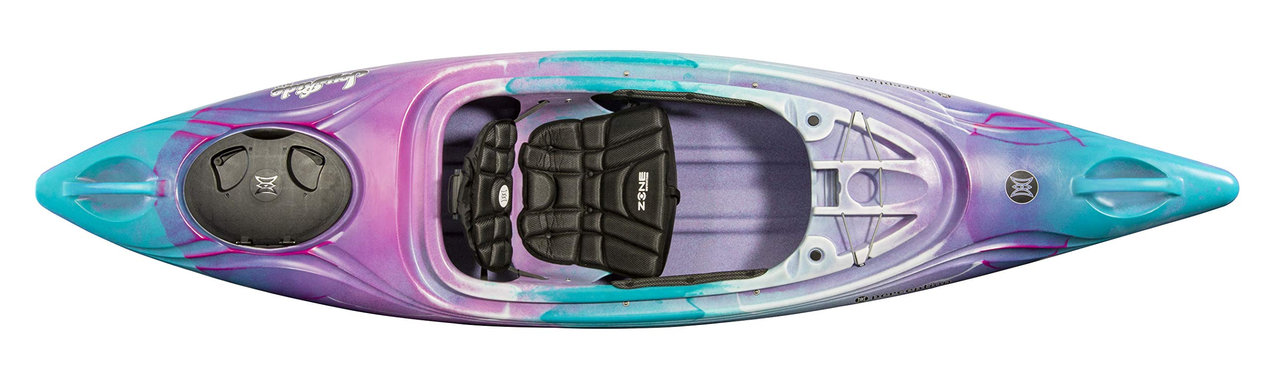 Perception Joyride 10 | Sit Inside Kayak for Adults and Kids | Recreational and Multi-Water Kayak with Selfie Slot | 10' | Funkadelic by Perception Kayaks