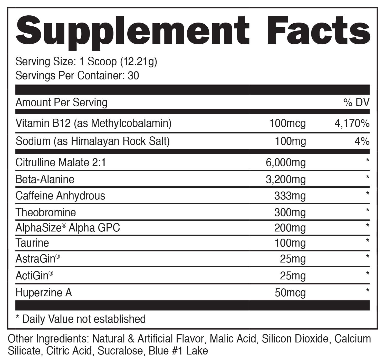 Bucked Up - HIGH STIM Pre Workout - Best Tasting - Focus Nootropic, Pump, Strength and Growth, 30 Servings (Blue Raz) by BUCKED UP (Image #3)