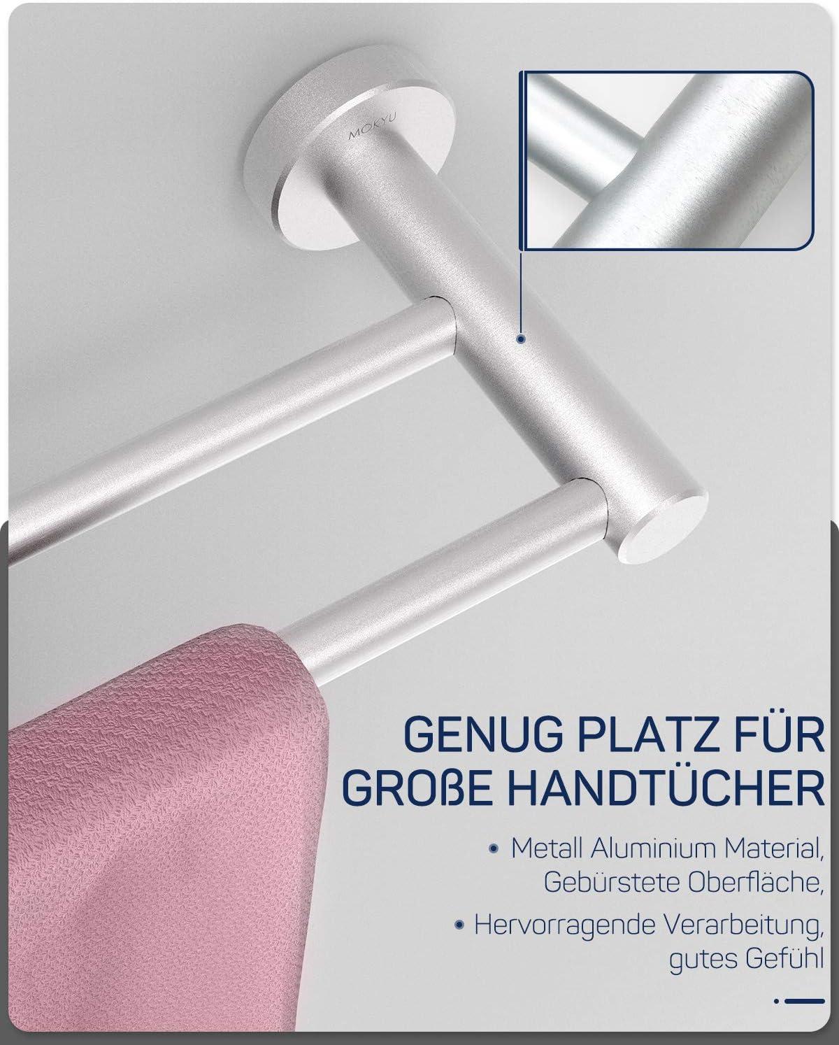 Doppelter Handtuchhalter MOKYU Badezimmer Handtuchstange