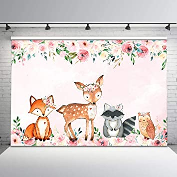 Woodlands Creatures Baby Shower Banner Party Backdrop