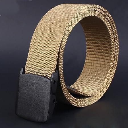Men Belt Smdoxi Canvas Breathable Men Waist Belt With Plastic-Automatic-Buckleow A