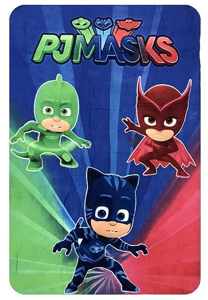 PJ Masks Héroes en Pijamas HQ4415 Manta Polar, 150 Centímetros, Multicolor, Gatuno,
