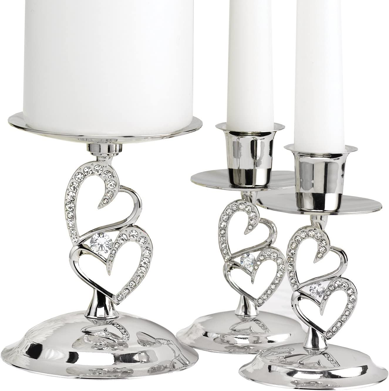 Hortense B. High order Hewitt Sparkling Love 4-Inch Set Nic Candle Stands Directly managed store