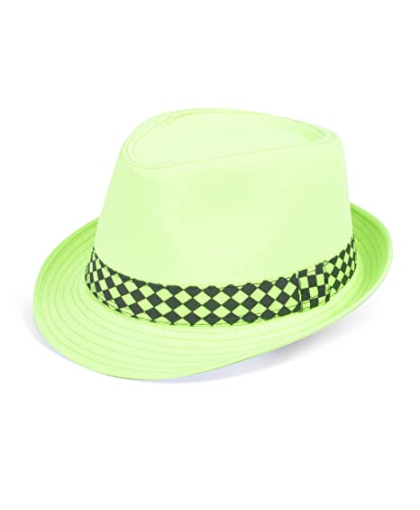 Neon Tropical Ladies Fedora Hats (Green) at Amazon Women s Clothing store   Novelty Knit Caps b0c51d92889a