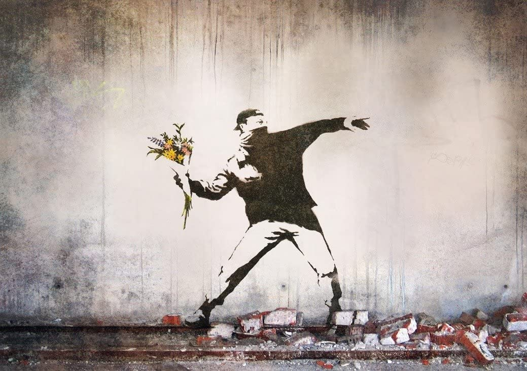Banksy Peace Room Art Wall Cloth Poster Print 524