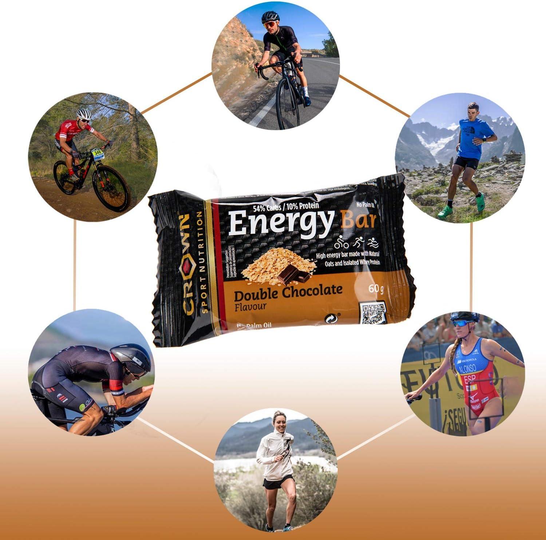 Crown Sport Nutrition Barritas Energéticas - Ciclismo Running Deporte Entreno Larga Duración Carbohidratos lento y rápido 10 unidades