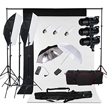 Fond Kit Led Lampes Display Flash 6x3m 300150 Avec W Lampe D'alliage Professionnelles Toile Support Trépied De 1 Modèle nOkX08Pw