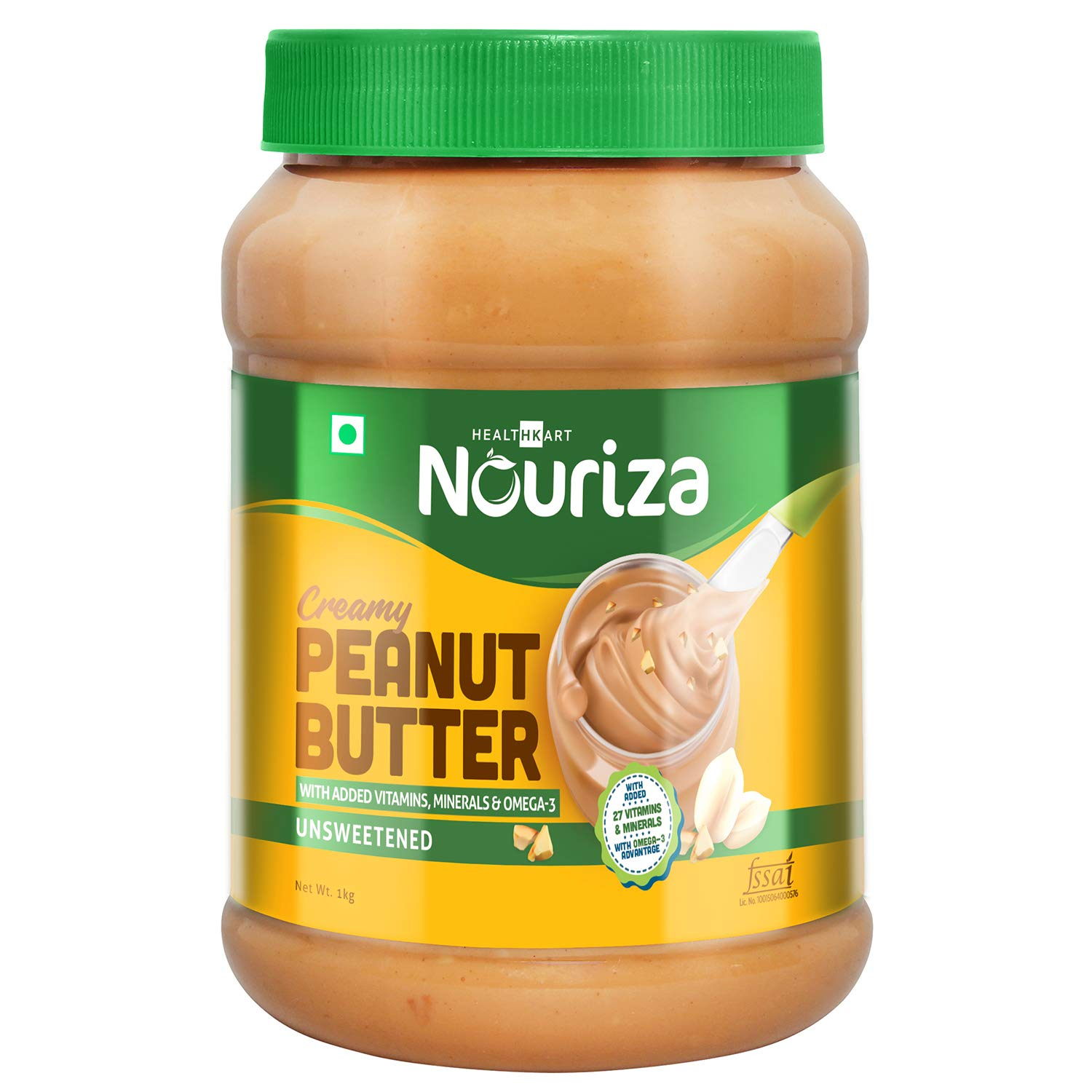 3. Nouriza Peanut Butter Fortified with Vitamins & Minerals Creamy