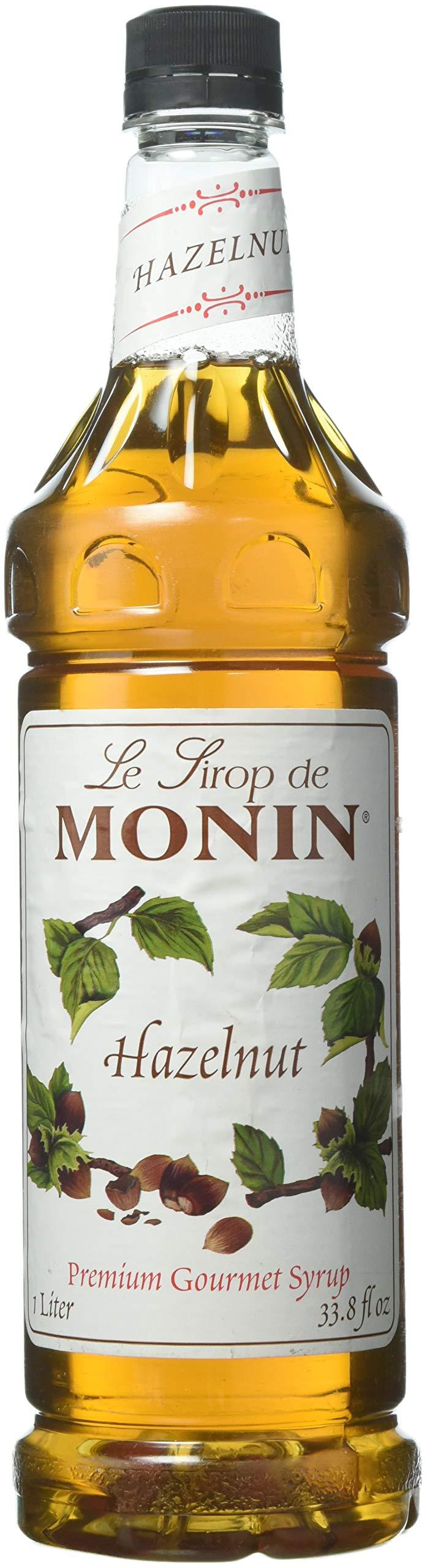 Monin Flavored Syrup, Hazelnut, 33.8-Ounce Plastic Bottle (1 liter)