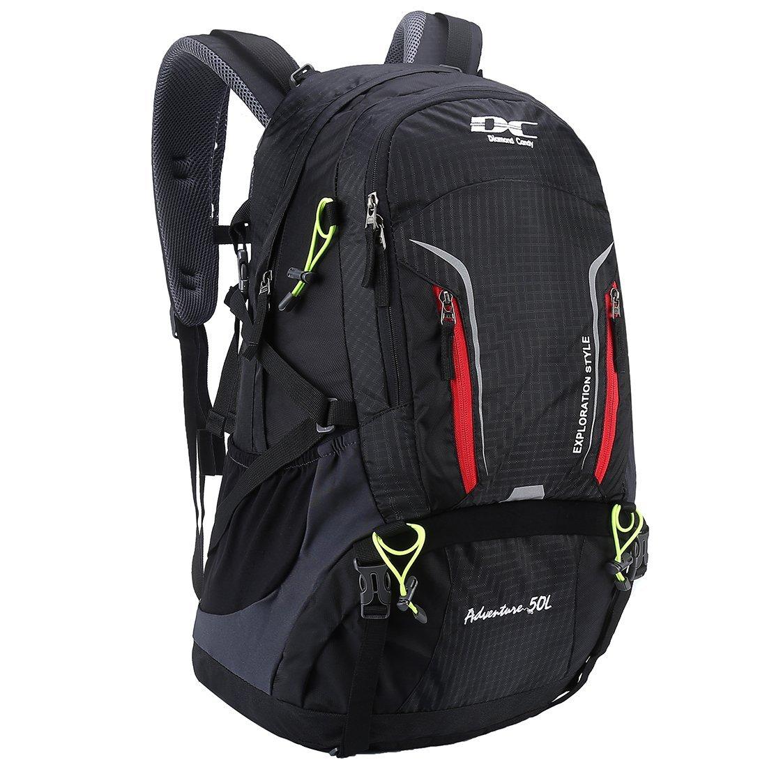 APRIL 14TH Wandern Reise Rucksack - 40L / 50L Trekking Wasserdichter Rucksack mit Regenschutz für Männer Damen Rucksäcke Blau U009_Blue