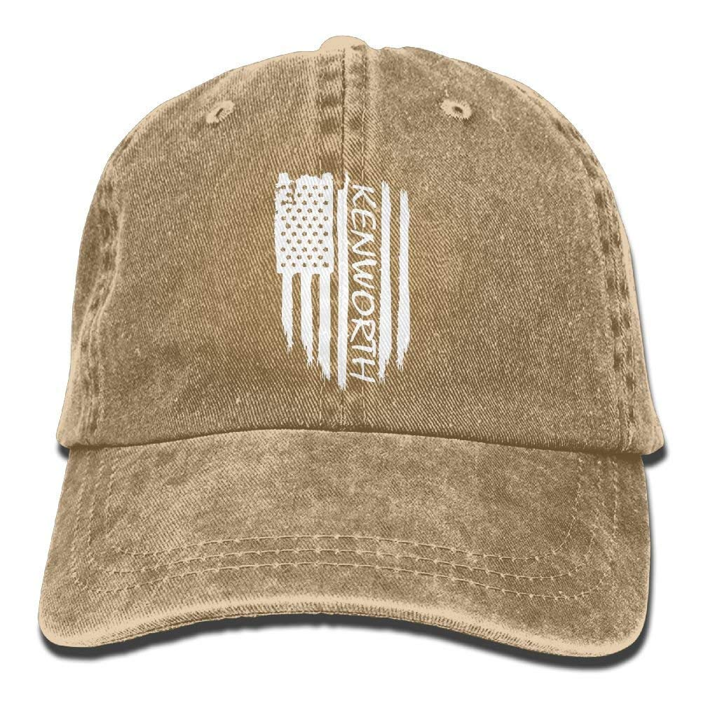 Aoliaoyudonggha American Flag Kenworth Adjustable Baseball Caps Denim Hats Cowboy Sport Outdoor