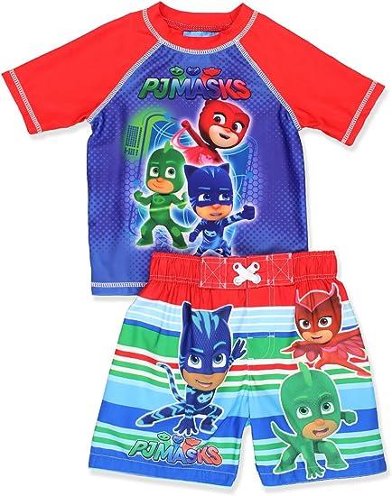 Toddler Boys PJ Masks Blue Red Combo Swim Short Trunk