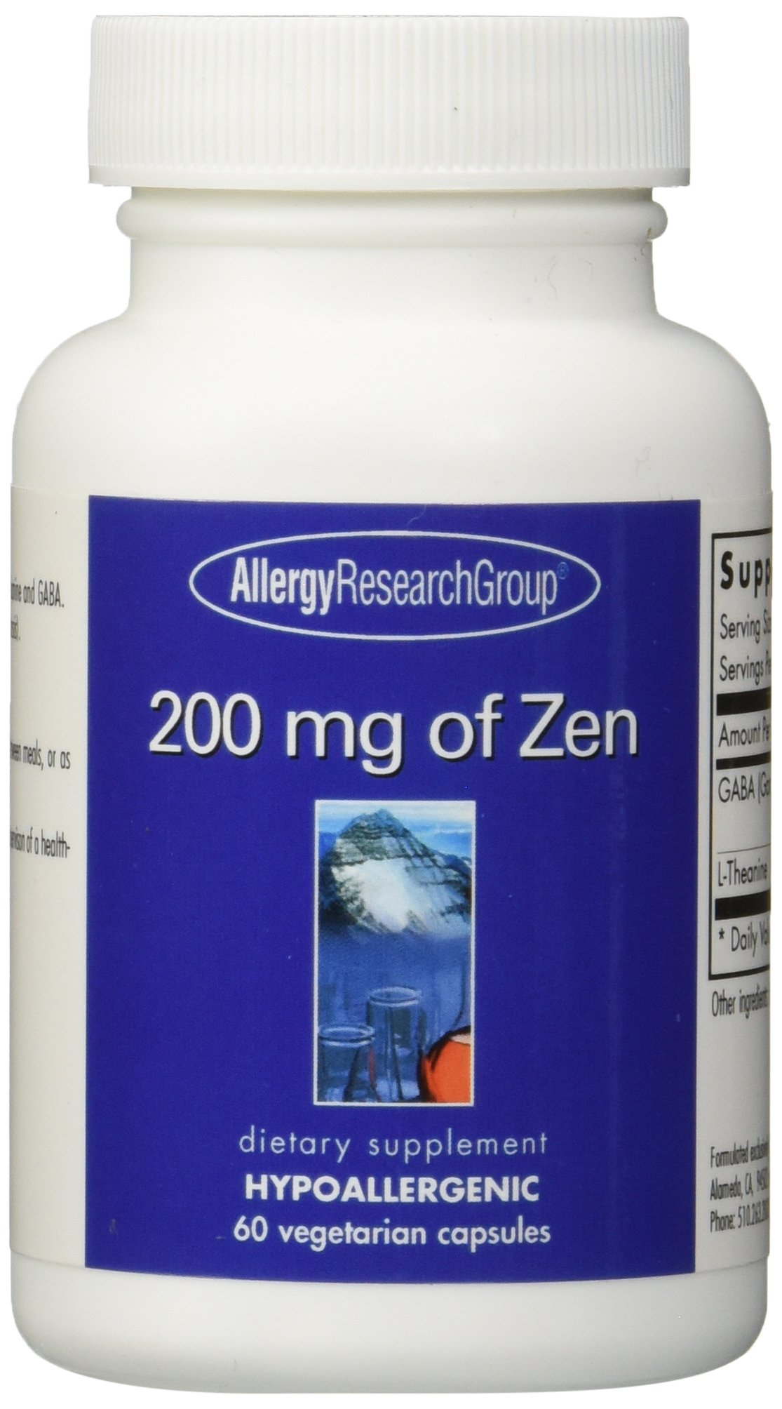 Allergy Research Group Zen -- 200 mg - 60 Vegetarian Capsules